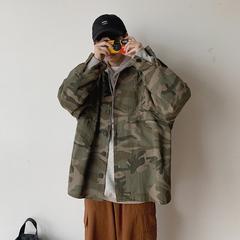 秋冬外套男宽松韩版休闲外穿迷彩学生衬衣潮流 C529-P70