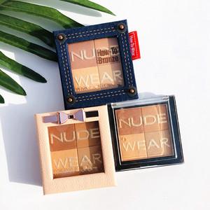 美国P F裸妆系列Nude Wear四色珠光立体古铜修容粉 高光 腮红1L6