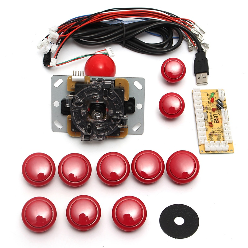 DIY arcade joystick handle set kits 5 pin 24mm / 30mm push b