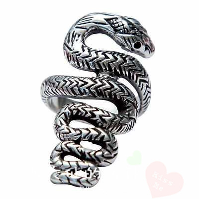 Buy Gothic Ring snake sexy metal STERLING SILVER RING 925 personalized creative ring accessories in the United States