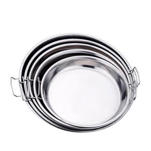涼皮鑼鑼陝西羅羅做麪皮不鏽鋼盤子製作工具家用蒸盤腸粉糕盤商用