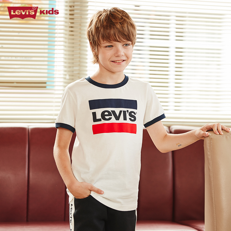 Levi & ා39; s Levi's kids' T-shirt 2020 Summer Boys' T-shirt pure cotton children's short sleeve trendy kids' T-shirt