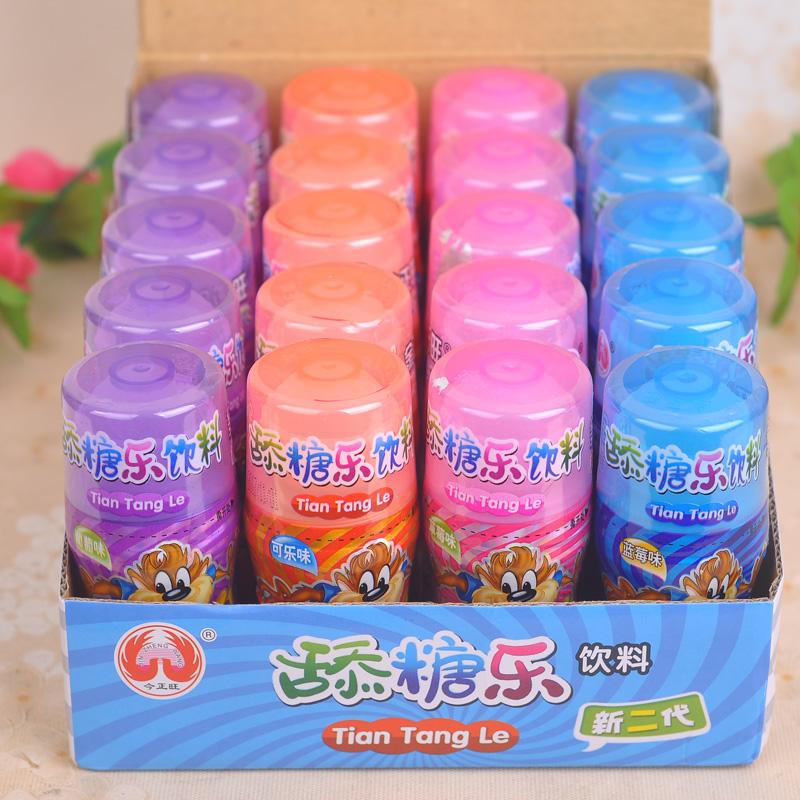 32ml*20瓶金正旺舔糖乐饮料可乐味葡萄味草莓味蓝莓味 零食品包邮