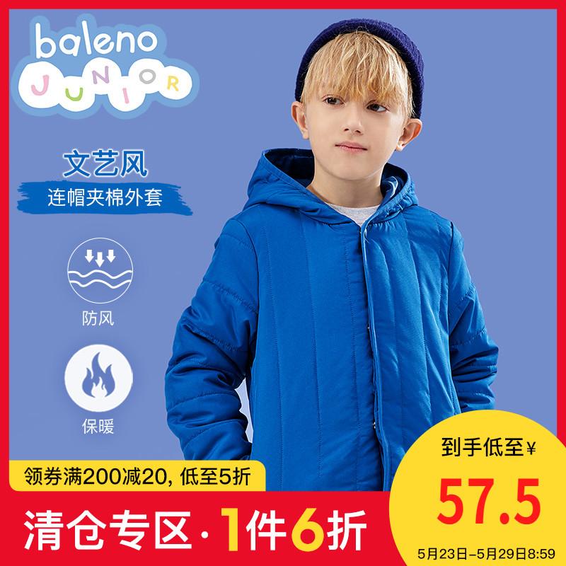 班尼路童装2020新款男童棉服洋气连帽儿童加厚外套秋冬季夹棉韩版图片