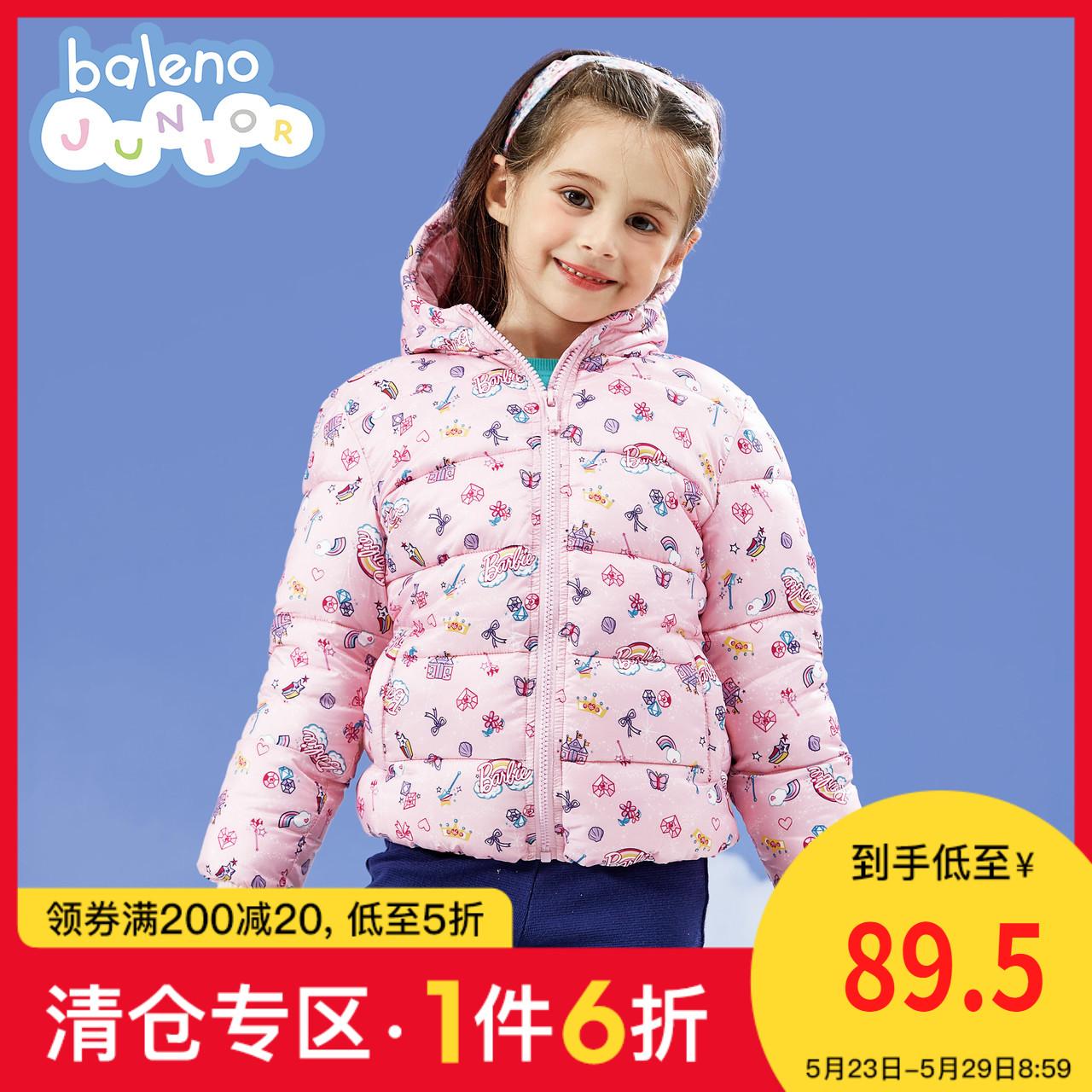 班尼路童装2020秋冬新款芭比印花女童棉服洋气加厚儿童外套韩版潮图片