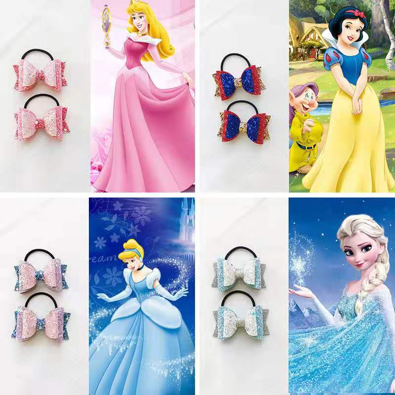 Clear the warehouse without childrens hair accessories Snow Princess Sequin bow hairpin baby hairpin BB clip