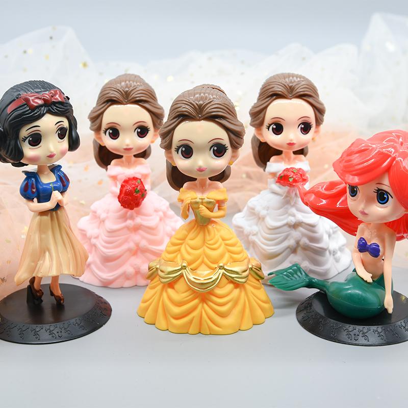 蛋糕烘焙装饰摆件贝尔公主大头索菲亚儿童生日甜品台女孩派对塑料