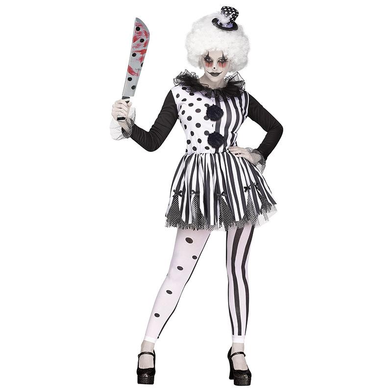 ハロウィンのコスプレコスプレコスプレコスプレコスプレコスプレコスプレ衣装のピエロとウィッグステージで女性殺し屋のピエロ衣装を披露します。