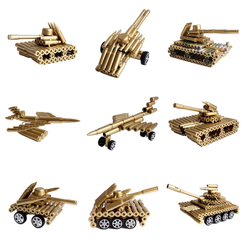 Bullet shell decoration aircraft cannon tank model living room office ornaments Veterans Memorial gifts