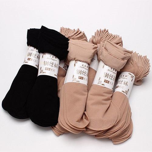 丝袜女薄款短款防勾丝袜子女士黑肉色耐磨天鹅绒春秋透明夏季水晶