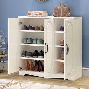 欧式鞋柜鞋架储物柜阳台门厅多层大容量木质现代简约家用门口实木