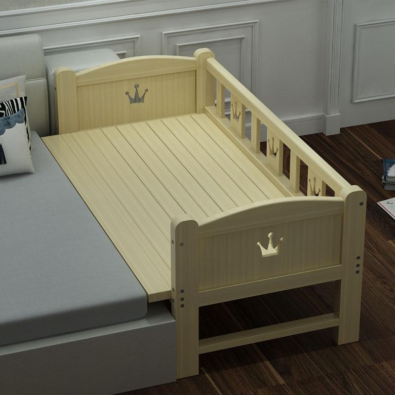 可定做拼接实木男孩边加宽婴儿床券后358.00元