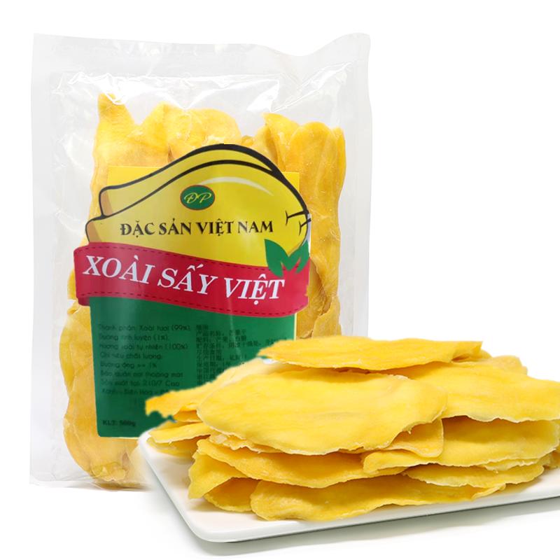 越南特产原装进口大青芒果干500g装原味少糖送礼佳品蜜饯果脯包邮