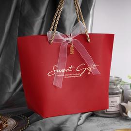 结婚礼品袋喜糖袋子 婚庆创意回礼手提袋 大号装烟喜糖纸盒袋子