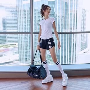 瑜伽服女两件套夏天锻炼速干跑步上衣专业时尚运动服网红健身套装