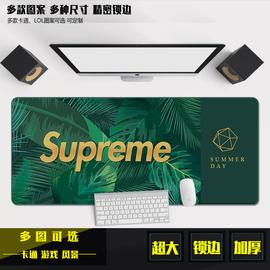 90*40cm 超大鼠标垫 LOL游戏卡通键盘垫 加厚 大号锁边包边办公快图片