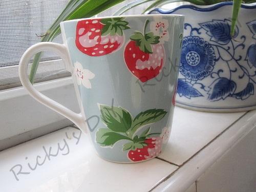 英伦碎花杯英国田园碎花陶瓷大容量马克杯咖啡杯水杯子