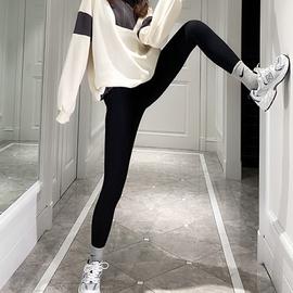 夏大大加绒打底裤外穿2020冬季新款大码女装胖妹妹保暖显瘦小脚裤