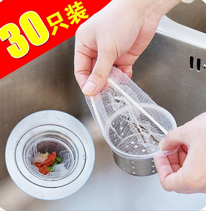 30/100只�b�N房水池排水口��渣�^�V垃圾袋防堵塞菜盆隔水袋�^�V�W