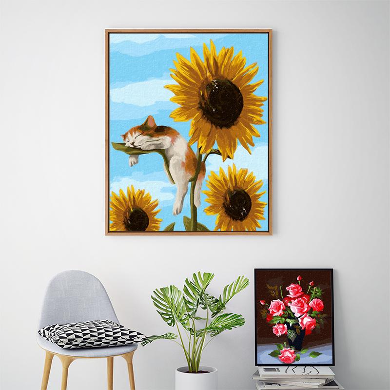 数字油画diy油彩画客厅餐厅风景画涂色画手工填充填色手绘装饰画