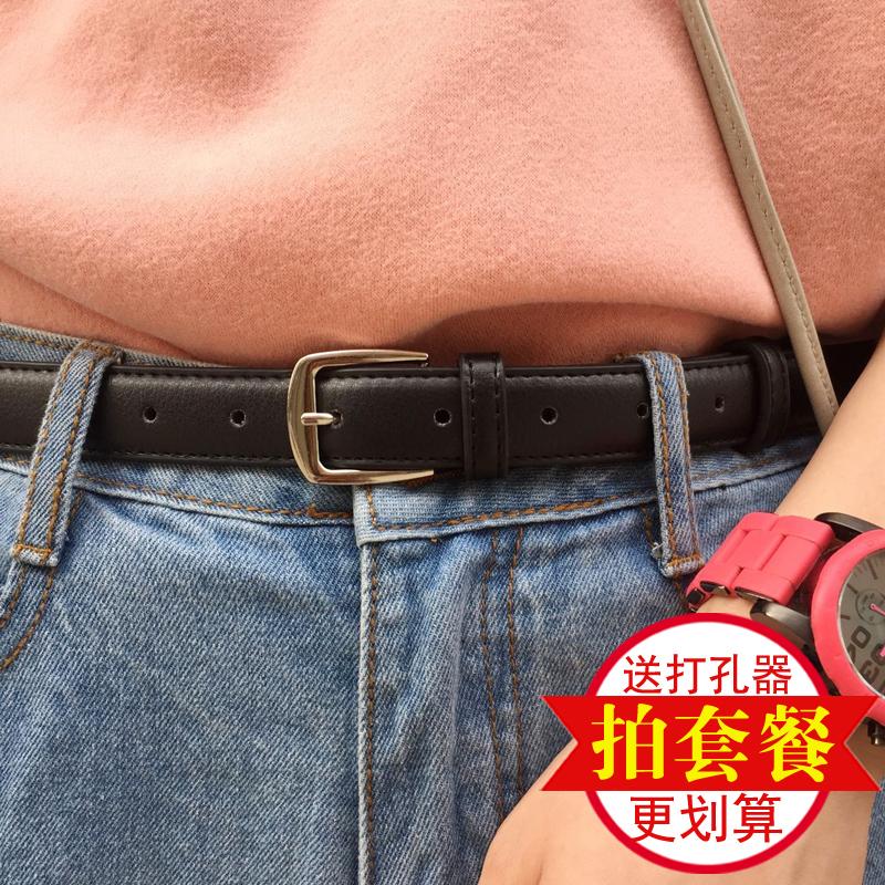 Ретро мисс хорошо ремень bf ветер пряжка корейский черный дикий декоративный кожаный ремень простой джинсы студент корея