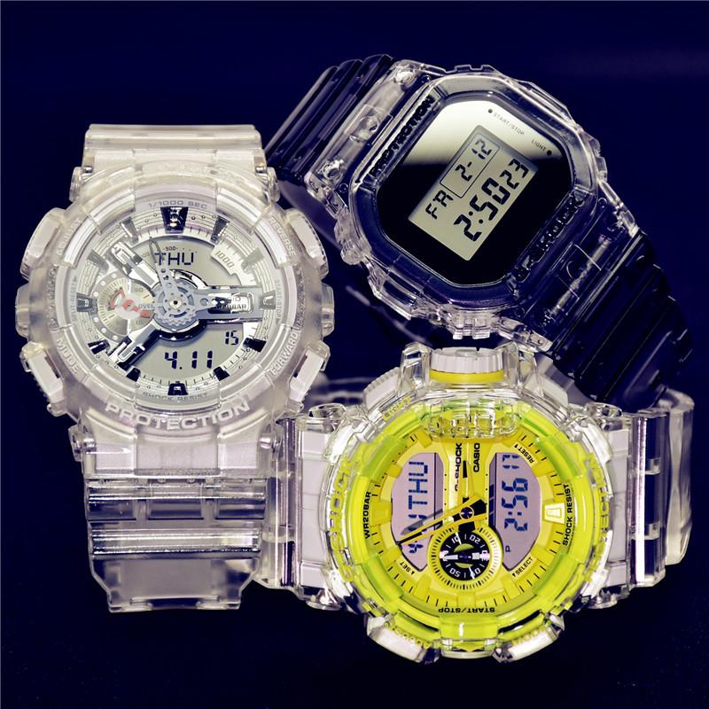 卡西欧gshock透明时尚手表男DW-5600SK-1 GA-110CR-7A/400SK-1A4,可领取20元淘宝优惠券