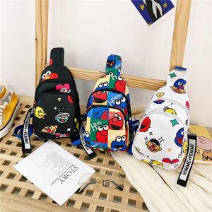 儿童斜挎包男孩子潮户外旅行小背包小学生韩版胸包单肩包男小包包