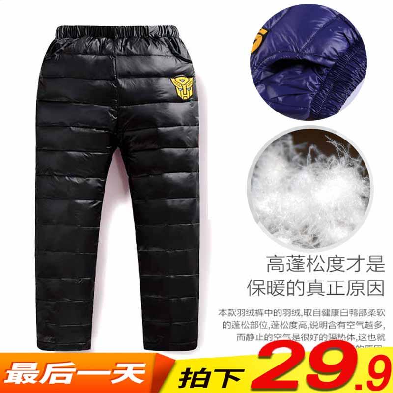 Сезон уборки ребенок осень зима хлопок брюки мужской девочки теплые брюки ребенок в заправила ребенок брюки вниз иметь дело с