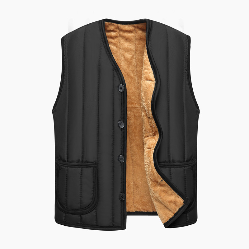Middle aged and elderly mens Ma Jiaqiu winter clothes womens vest with plush warm cotton vest middle-aged mothers large waistcoat