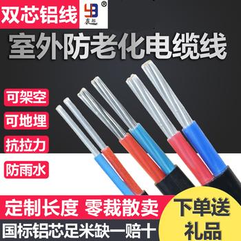 国标铝芯家用户外4 6 10 16电缆线