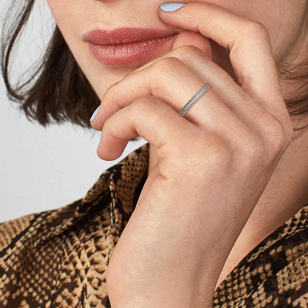 Ring mens and womens Valentines Day gift fashion personality minority design couple creative Sterling Silver Ring female oumeilou