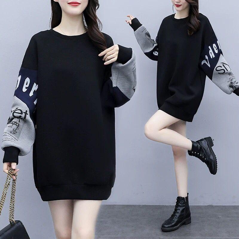 2021春秋新款加肥加大码女装卫衣
