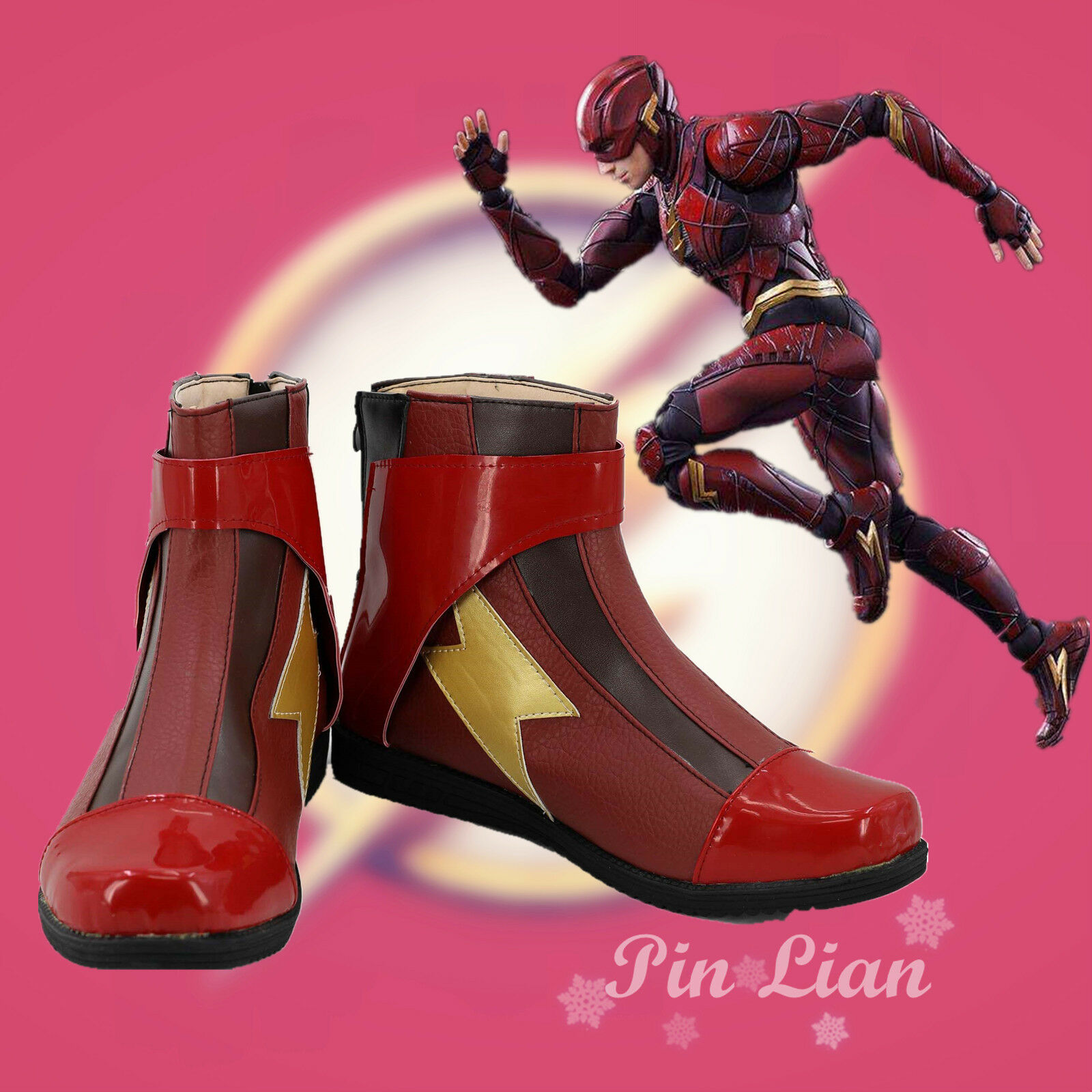 Purchase of lightning man Barry Allen cos boots and shoes DC Comics justice alliance hero Cosplay NEW