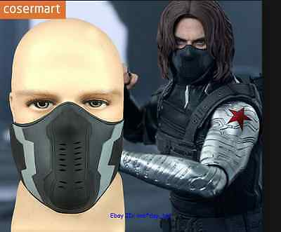 Buy American captain winter warrior James Barnes Cosplay role play props Mask NEW