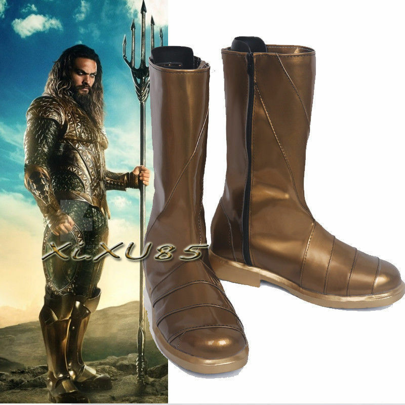 Purchase of DC series film justice alliance Cosplay superheroes cos golden shoes