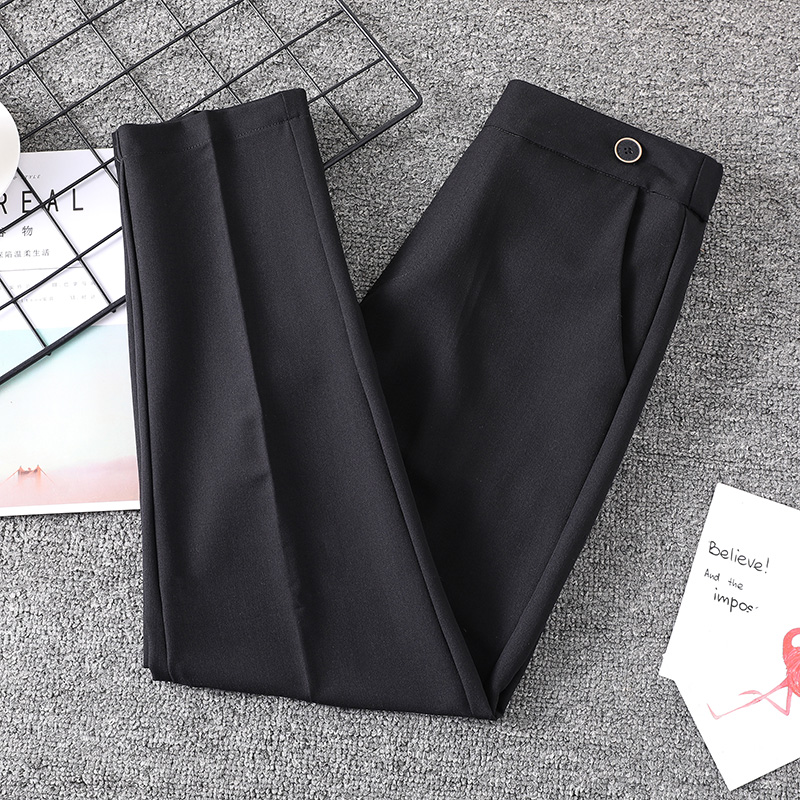 Extra large womens fat mm autumn fashion suit pants fat people show thin Capris straight tube loose pipe pants