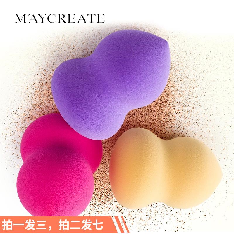 Three suits! Make up egg gourd air cushion powder puff sponge egg color make up egg dry wet dual purpose make up cotton make up tool