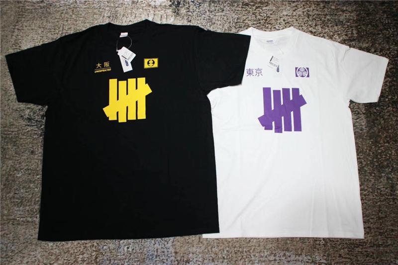 现货新款日常UNDEFEATED东京大阪限定黑白圆领男女情侣短袖T恤