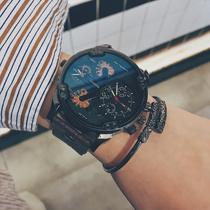 阿玛尼官方正品大气钢带男士手表潮流简约防水石英表AR1819Armani