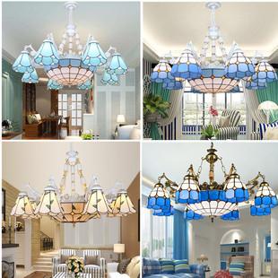 蒂凡尼欧式吊灯地中海田园风格客厅灯简约美式温馨卧室灯餐厅灯具