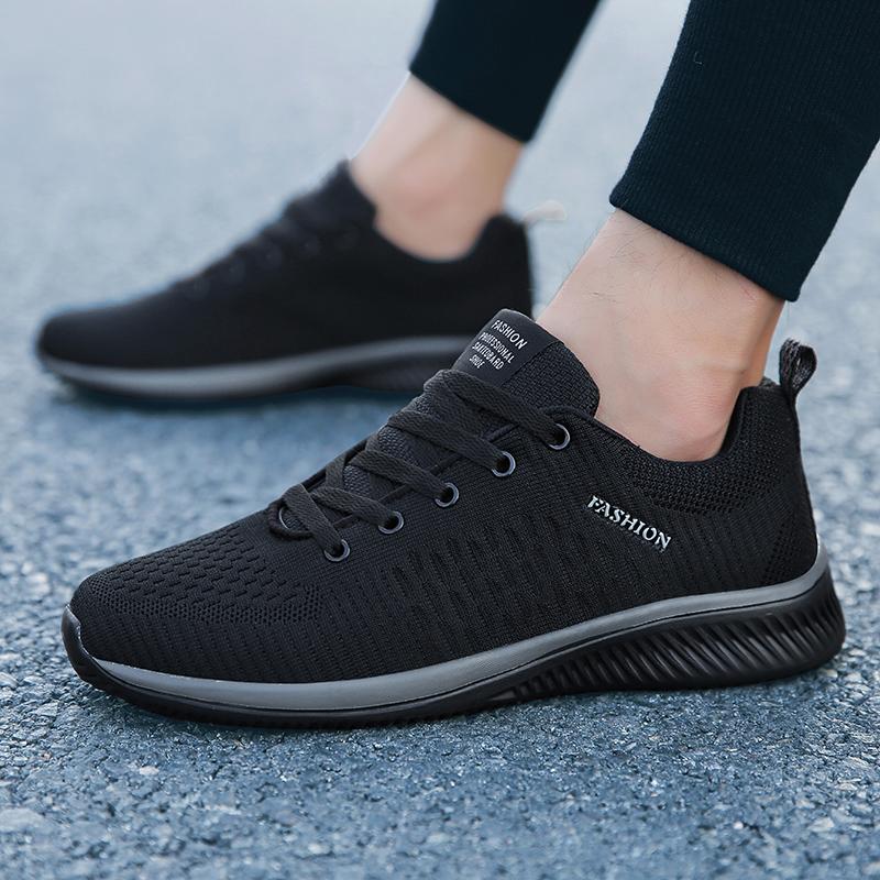 春夏季男鞋子46大号47运动休闲男士帆布鞋45特大码48跑步黑色网鞋