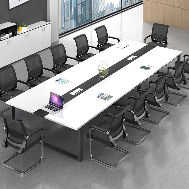 商业大厦公司单位办公家具拼接板材会议桌长桌简约现代接待洽谈桌
