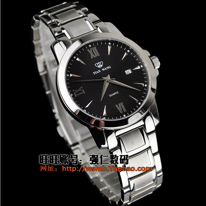 天王表LS/GS3627S/D女士男士钢带超薄石英对表情侣手表特价图片