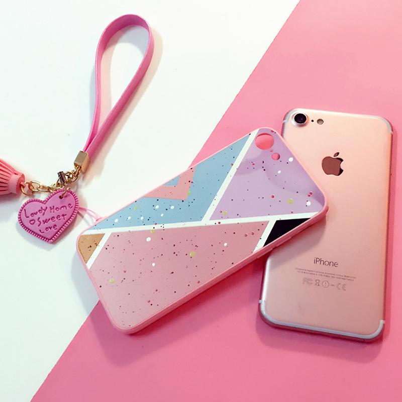 iPhone6手機殼蘋果6splus粉色 日韓6全包矽膠5.5潮女防摔