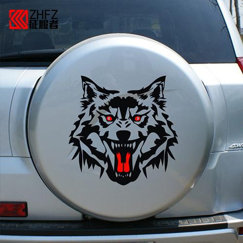 汽車裝飾貼紙引擎蓋狼頭機蓋貼車頭蓋貼 紙改裝貼 車貼