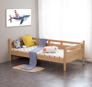 定制北欧实木家具带护栏男孩儿童床