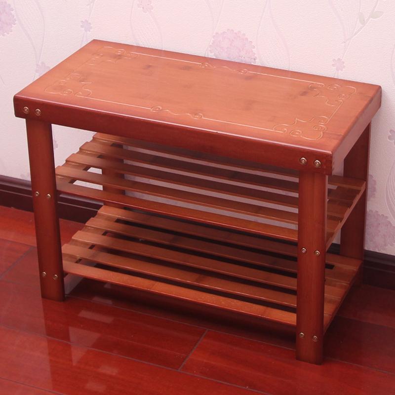 楠竹鞋架简易换鞋凳家用进门口穿鞋凳子实木小鞋柜多层收纳置物架图片