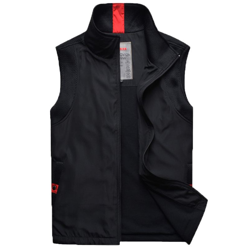 Vest mens thin outdoor fashion casual mens Vest spring and autumn mens fashionable sleeveless cantilevered soft shell coat