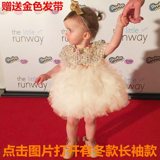 欧美高端秋装女宝宝生日礼服公主裙热销375件限时2件3折