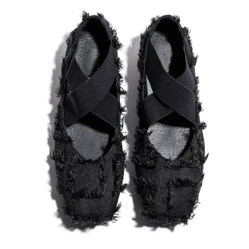 【清仓特价】皇太后方头芭蕾舞单鞋